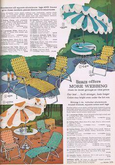Webbed Lawn Furniture - Sears, 1963