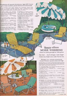 Webbed Lawn Furniture - Sears, 1963