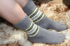 Hand knitted thick warm socks. Size EU 42543  US by LadyLigaShop, $30.00