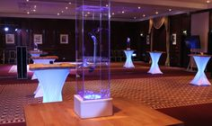 Branded table centres for Clearwater Events' show in Birmingham in March. Table Centers, Recent Events, Display Case, Birmingham, March, Lights, Traditional, Table Centerpieces, Glass Display Case