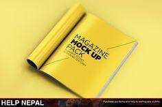 Magazine Mock Up Pack by Mockup Zone on Creative Market