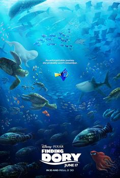 Finding Dory's New Poster Shows a Favorite Fish Looking Adorably Lost  Finding Dory, Poster