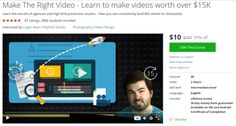Make The Right Video - Learn to make videos worth over $15K http://ift.tt/1TALKbf  #udemy #coupon #discount