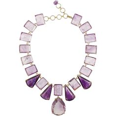 Bounkit 24-karat gold-plated amethyst necklace ($1,750) ❤ liked on Polyvore