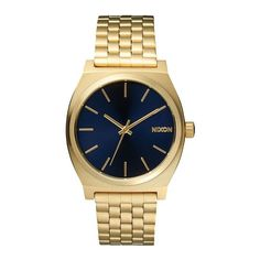 Nixon The Time Teller All Light Gold Cobalt horloge A0451931