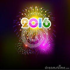 Bonne année 2016 avec le fond de feux d artifice