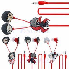 Stebcece Anime Tokyo Ghoul Kaneki Ken Earphone Cute Earbuds Headphones Headset Cosplay Gps Navigation, Kaneki, Tokyo Ghoul, Headset, Headphones, Cosplay, Cool Stuff, Cute, Anime