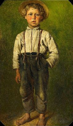 Ludwig Knaus (1829 – 1910, German) - Portrait Of A Young Boy