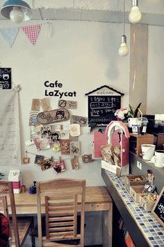 hongdae cafe seoul cat cute
