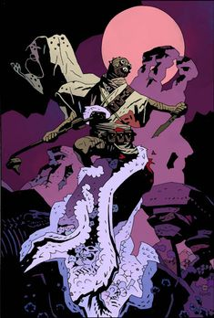 Star Wars - Tusken Raider by Mike Mignola Comic Book Artists, Comic Artist, Comic Books Art, Darkhorse Comics, Illustrations, Illustration Art, Marvel Comics, Mike Mignola Art, Tusken Raider