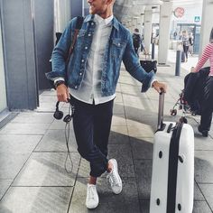 Casual airport outfit by @erichagberg [ http://ift.tt/1f8LY65 ]