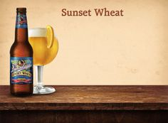 """best beer ever. Leinenkugel's Sunset Wheat - Jacob Leinenkugel Brewing Company, Chippewa Falls, Wisconsin : A """"light cloudy wheat"""" beer with aromas of """"blueberry, orange peel, coriander, a faint licorice"""". It has a """"firm and dry"""" aftertaste and is a """"pleasantly meandering experience""""."""
