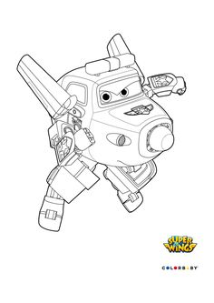 dibujos colorear super wings paul - Sprout Super Wings Coloring Pages