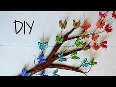 DIY Tree Branch + 3D Butterflies ♥ // Room Decor - YouTube