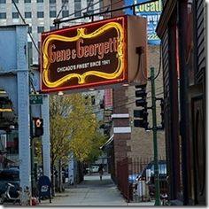 Gene and Georgetti Italian Steakhouse / Chicago!! Gotta take Ashley here!