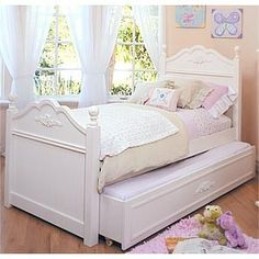 Shayna Twin Trundle Sleigh Bed For Abby Pinterest