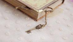 Anahtar ve Deniz Kızı Motifli Vintage Kitap Ayracı - Kitap Ayracı 190719 | zet.com
