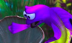 Finding nemo on pinterest finding dory keep swimming for Finding nemo fish names