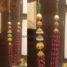 Jhumka Embellished Beads Set - Jewellery Designs