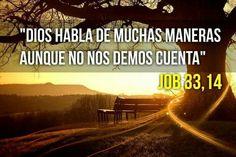 Dios habla de muchas maneras aunque no nos demos cuenta. Job 33,14