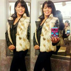 Un-branded Jackets & Coats - 100% Lapin Fur Vest