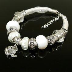 A Delicate Handmade Beauty..https://www.etsy.com/listing/239505614/european-charm-bead-bracelet-handmade
