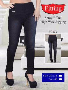 Checkout this latest Jeggings Product Name: *Trendy Denim Women Jegging* Sizes:  34, 36, 38, 40 Country of Origin: India Easy Returns Available In Case Of Any Issue   Catalog Rating: ★4.2 (4196)  Catalog Name: Plus Size High-Waist Denim Jeggings CatalogID_8591 C79-SC1033 Code: 335-85577-4041