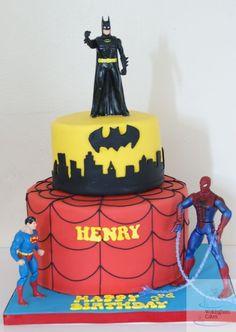 super+hero+cake | Superheroes cake - by fiso @ CakesDecor.com - cake decorating website