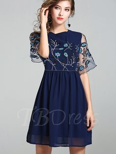 Tbdress.com offers high quality Embroidery Double-Layered Women's Cape Dress Day Dresses unit price of $ 35.99.