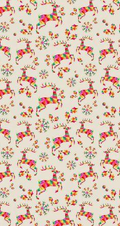 [クリスマス]おしゃれなトナカイのパターン iPhone壁紙 Wallpaper Backgrounds iPhone6/6S and Plus Christmas iPhone Wallpaper