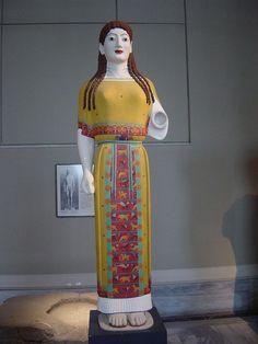 The reconstructed Peplos Kore.