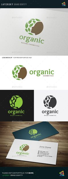 Organic Logo Template Vector EPS, AI Illustrator #logotype Download here: http://graphicriver.net/item/organic-/14063221?ref=ksioks