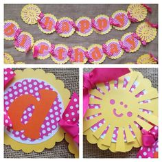 Sunshine Birthday Banner Happy Birthday Banner by AWhimsyPartyShop, $29.00