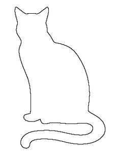 Sitting Cat Pattern