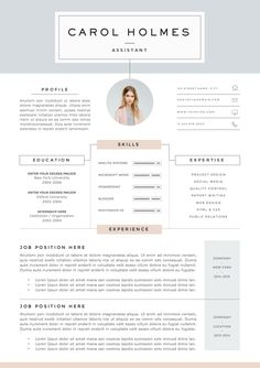 Resume Template 4page | Milky Way by The.Resume.Boutique on @creativemarket