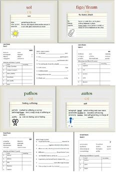Greek and Latin Roots Bundle - Perfect for teaching a roots based approach to vocabulary at the high school or middle school level.