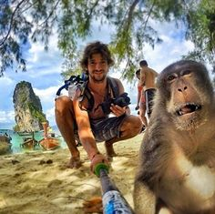 COOLEST selfie! Selfie Monkey   It is really nice to deal with these creatures. Safari adventures could give you the knowledge with fun.   Share it if you agree