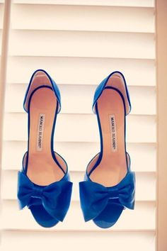 7be9a9f31f5 Wedding Shoes  Something Blue Manolo Blahnik Heels. These would be nice I  have a wedding to attend soon.