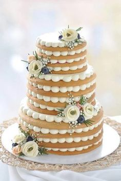 non traditional wedding dessert ideas tired cake with white cream and flowers vk. - non traditional wedding dessert ideas tired cake with white cream and flowers vkusnoisladko - Cupcakes, Cake Cookies, Cupcake Cakes, Cupcake Wedding Cakes, Easy Wedding Cakes, Cream Wedding Cakes, How To Make Wedding Cake, Pretty Cakes, Beautiful Cakes