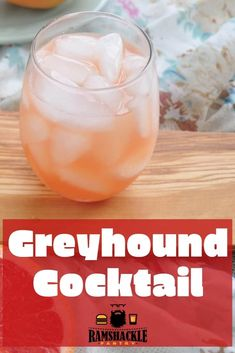 Greyhound Cocktail – How To Make A Greyhound This Greyhound Drink recipe brings some of the best things of a Grapefruit out. This is a classic cocktail and can be served with either gin or vodka. – Cocktails and Pr Easy Drink Recipes, Vodka Recipes, Best Cocktail Recipes, Sangria Recipes, Yummy Drinks, Delicious Desserts, Vodka Cocktails, Cocktail Drinks, Bartender Drinks