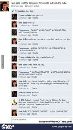 Darn it C-3PO! @Sam Rollings - #HansSolo funny for ya ;)