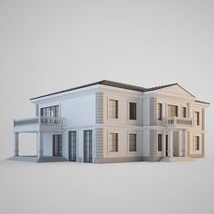 classic house 3d max