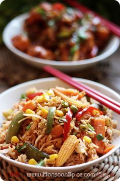Veg Schezwan Fried Rice Recipe | Indo-Chinese or Chindise Delight! - Monsoon Spice | Unveil the Magic of Spices...