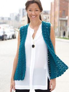 Drapey Crochet Vest - Patterns | Yarnspirations