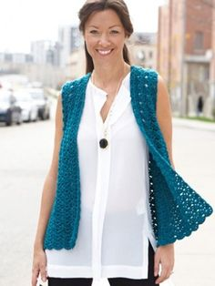 Drapey Crochet Vest - Patterns | Yarnspirations