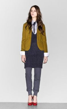 Sisley Fall Winter 2012 Woman Collection  (this looks exactly like the kind of weird outfit I would put together!)