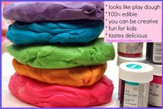 PLAY DOUGH COOKIES---Fun for older children who can tell the difference between real play dough