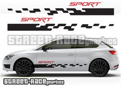 Seat Ibiza and Leon racing stripes Motorcycle Stickers, Truck Stickers, Truck Decals, Smart Car Body Kits, Megane 3, Car Backgrounds, Racing Stripes, Latest Cars, Car Wrap