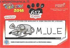 Amici Cucciolotti 2016: Retro Figurina n. 617 -