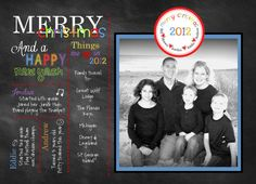Family Letter Merry Christmas Monogram Printable Photo Christmas Cards Digital Design